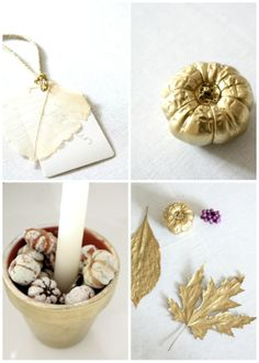gold details for the Thanksgiving table