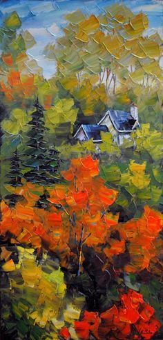 Montagne Laurentienne - painting by Robert LeClerc at Crescent Hill Gallery