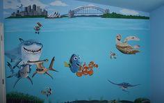 Finding Nemo mural for children's room or nursery.