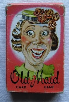 Old Maid card game...I remember that face! This is exactly the Old Maid deck I had as a kid...