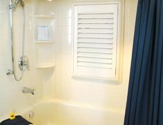 Water proof roman shade for shower window from house to - What uses more water bath or shower ...