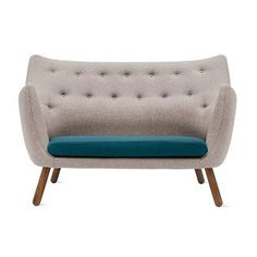 """""""Finn Juhl designed the Poet Sofa (1941) for use in his own home, located in Charlottenlund, a rural area north of Copenhagen."""""""