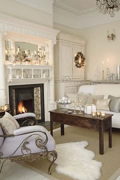 decorated fireplaces mantels with hearths   Christmas - Fireplace Mantel - Hearth - Winter - FireplaceMall.com