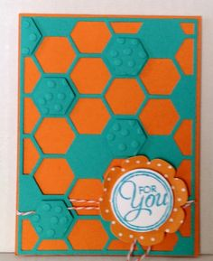 Stampin Up Hexagon framelit handmade card by Angelica Rosa