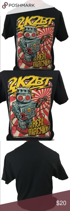 The real machine men's short sleeve T-shirt The real machine men's short sleeve T-shirt brand 2k2BT ( 2kool2Btrue) brand new without tags 100% Cotton size large makes me offers bundle discounts same day shipping happy purchase 2k2BT Shirts Tees - Short Sleeve