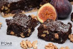 Ořechovo-fíkové brownies Brownies, Desserts, Food, Cake Brownies, Tailgate Desserts, Deserts, Essen, Postres, Meals