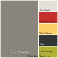 The Best Benjamin Moore Paint Colours for Boys Rooms - Kylie M Interiors. I like this grey or Pewter grey, not as many accent colors