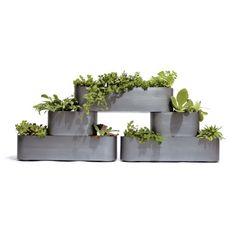 """pony planters set of five.   """"Galvanized steel""""     $199.00"""