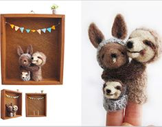 Lazy Animals-little wool creatures, and their habitats, handmade with natural, eco-friendly materials.