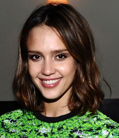 The Hottest Haircuts Right Now (Voted by Glamour magazine) Haircut Idea- Jessica Alba's blunt cut. It's is almost vintage. This isn't chopped into at all, it's a classic, beautiful shape that falls perfectly, with just a few long layers around the face. This shape works on any face, and is best for fine, straight hair.