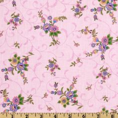 A E Nathan Floral Vines Pink