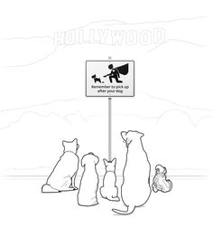 Знак для собачьего парка «Сильвер-Лейк»