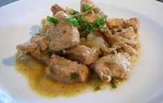 Pollo con salsa inglesa