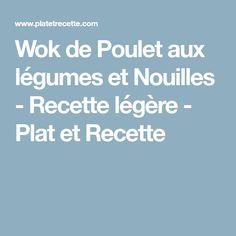 Wok de Poulet aux légumes et Nouilles - Recette légère - Plat et Recette