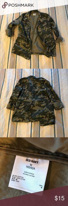 Camo Jacket! Super cute camo military style jacket! So cute on! Old Navy Jackets & Coats