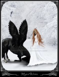 Magical Winter by MistRaven.deviantart.com on @DeviantArt #fantasy #angels #dreams #pictureoftheday