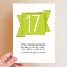 Happy 17th Birthday Card Funny 17