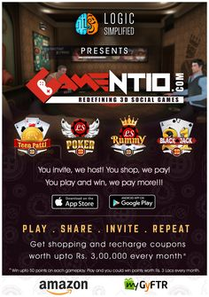 You invite, we host! you shop, we pay! You play and win,we pay more!!!