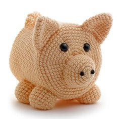 """PEGGY PIG"" CROCHETED TOILET PAPER COVER ♦ Pattern in ""Amigurumi Toilet Paper Covers"" by Linda Wright. http://amazon.com/dp/0980092361/"