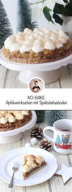 Apfelweinkuchen mit Spekulatiusboden ohne Backen - Zur Kaffeestunde gibt´s gerne kleine Torten bei uns, wie diese Apfelweintorte. Das Schöne an dieser Apfelweintorte ist, ihr benötigt keinen Backofen dafür. Somit ist einfach und schnell gemacht und kommt bei jedem Kaffeekränzchen ganz gut an. #apfelweinkuchenrezept #apfelweintorte #apfelweintorterezept #apfelweinkuchen #apfelwein #weihnachtskuchen Sweet Bakery, Cupcakes, All You Need Is, Cereal, Xmas, Sweets, Breakfast, Desserts, Recipes