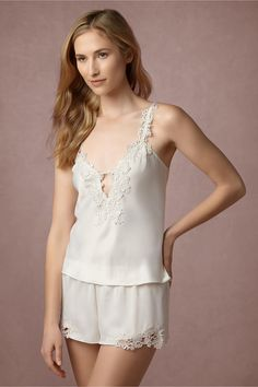 5ff2a95929 BHLDN s Flora Nikrooz Capri Camisole in Ivory Bridal Lingerie Shower