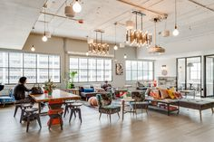 A WeWork presentation on how data analysis of their own workplace can lead to…