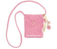 Crochet Purses Design Monedero o bolsito tejido a crochet de una sola pieza piece crochet purse) Crochet Case, Crochet One Piece, Crochet Shell Stitch, Crochet Gifts, Crochet Handbags, Crochet Purses, Kids Purse, Crochet Purse Patterns, Kids Bags