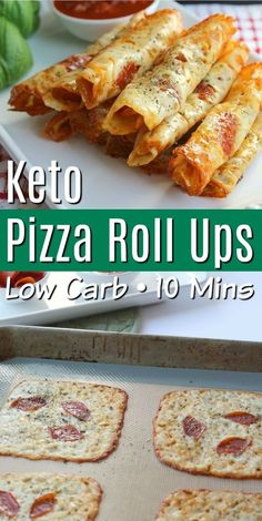 Keto Pizza Roll Ups recipe makes delicious healthy snacks that everyone will love! Serve with veggies for a quick healthy kid-friendly lunch or dinner! These pizza roll ups also make a great after school great snack or even a low carb appetizer! Yummy Healthy Snacks, Keto Snacks, Healthy Eating, Healthy Food For Kids, Healthy Pizza Recipes, Pizza Snacks, Healthy Cookies, Food For Lunch, Healthy Snacka