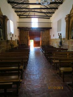 Church Interior, Barichara, Colombia