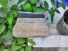 Material: Kaffee Sack(Jute) aus Brasilien und Leder