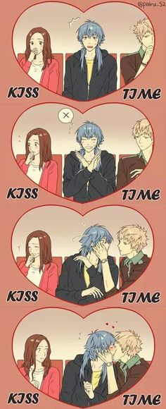 Aoba x Noiz - This would be the best kiss-cam ever! I also wanna see the camera-dude's reaction!
