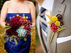 Gorgeous fall wedding colors. Flowers by StemsChicago.com and photos by OliviaLeighWeddings.com