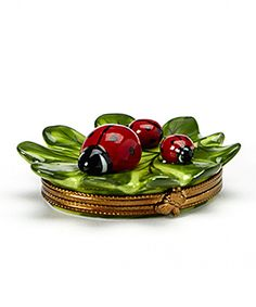 Look at this Green Leaf & Ladybug French Porcelain   Box on #zulily today!