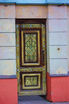 Doors of Yaroslavl by Quiltsalad, via Flickr