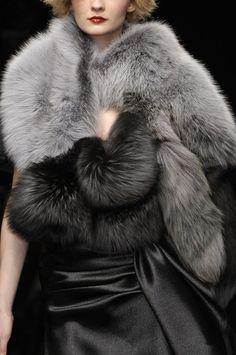 BIG fox fur accessories...