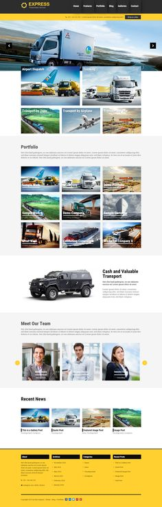 Express is a transportation WordPress theme. Perfect for all transportation business like freighting and logistic companies.  Express WP Theme has many features like a brand free admin panel, unlimited sidebars, SEO optimized HTML5 code, 600 free Google Webfonts, responsive design and many, many more.   #WP #WordPress #Theme #Webdesign #Transportation