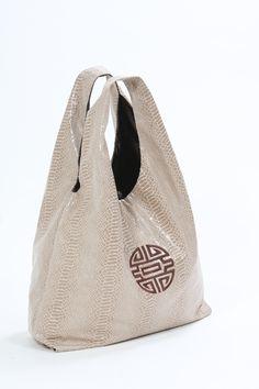 Beijing snake beige handbag