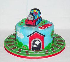 Thomas the Tank Engine birthday cake by EvaRose Cakes