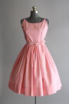 Vintage 50s Dress / 1950s Cotton Dress / por TuesdayRoseVintage