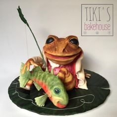Jeremy Fisher - Cake by Tiki's Bakehouse