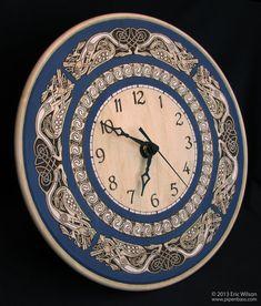 Celtic Knotwork Pyrography Wall Clock