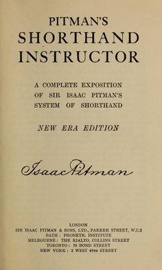 Pitman New Era Shorthand Book
