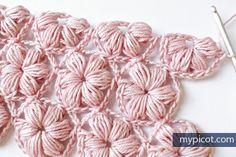 MyPicot   Free crochet patterns Otra manera de hacer el punto jazmín