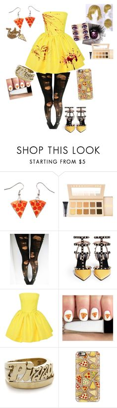 """""""Chica"""" by hgirl0077 ❤ liked on Polyvore featuring LORAC, Valentino, Martin Grant, Junk Food Clothing, Snash Jewelry, Casetify and Lazy Oaf"""