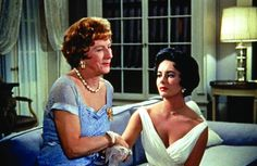 Still of Elizabeth Taylor and Judith Anderson in Cat on a Hot Tin Roof 1958