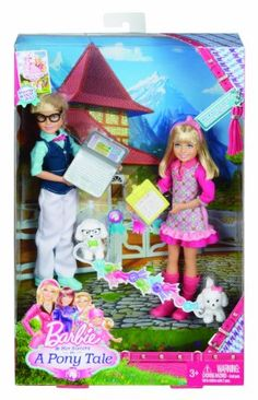 Barbie and Her Sisters in a Pony Tale Twins Max and Marie Doll, Barbie Chelsea Doll, Barbie Doll Set, Barbie Sets, Barbie 2000, Mattel Barbie, Barbie And Her Sisters, Barbie Family, Barbie And Ken, Barbie Kelly