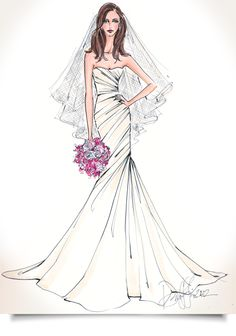 I REALLY REALLY WANT ONE OF THESE!!! Working from your photographs, fashion illustrator Deborah Griffin will recreate your dress onto paper, resulting in an elegant high style piece of custom artwork to cherish for years to come.