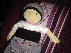 Strampelsack und Mütze für Puppe Krümel