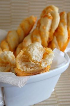 Garlic cheese twists... great with soups and spaghetti
