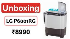 Unboxing   1350 RPM   6-Kg Washing Machine under 9000 Rupees   #LG P6001RG Latest Gadgets, Washing Machine, Spin, Strong, Shower, Water, Rain Shower Heads, Gripe Water, Showers